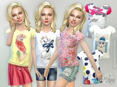 The Sims Resource: T- Shirt Collection GP08 by lillka • Sims 4 Downloads