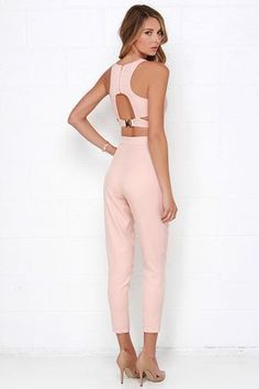 d8f49acdad5 Well-Suited Blush Pink Two-Piece Set