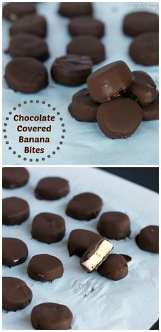 """Frozen chocolate covered bananas! These taste just like Trader Joe's """"Gone Bananas"""" but are way cheaper and so easy to make!"""