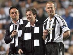 ANT AND DEC | Staunch supporters: Ant and Dec, pictured with Newcastle legend Alan ...