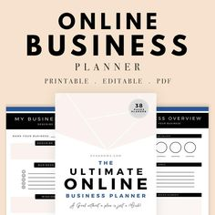 The Ultimate Online Business Planner Business Daily Planner Naming Your Business, Start Up Business, Business Names, Online Business, Business Ideas, Planner Stickers, Printable Planner, Printables, Business Expense Tracker