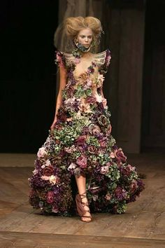 "A flowerful Dress   ""Haute Couture"""