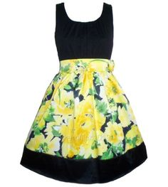 YELLOW FLORAL EASTER DRESS