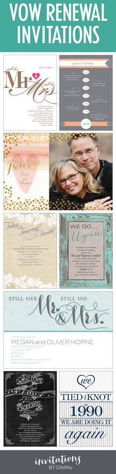 The best invitations for your Vow Renewal! #wedoagain #vowrenewal