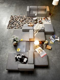Stylish Couple, Courtyard House, Modular Sofa, Sofa Furniture, Decoration, Lounge, House Design, Interior Design, Dining Rooms