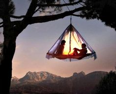 This article will help you know all about camping as a recreation! Camping provides you with the opportunity to share a rewarding experience with your whole family. Because you surely wish to maximize your camping experience, keep reading for several. Hanging Tent, Suspended Tent, Tree Camping, Camping Gear, Outdoor Camping, Camping Hacks, Camping Outdoors, Backpacking, Camping List