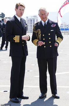 It is thought that members of Cdre Cooke-Priest's own crew flagged them up. The senior off. Queen Elizabeth Carrier, Hms Queen Elizabeth, Used Aircraft, Farm Hero Saga, Aircraft Carrier, Royal Navy, Prince Charles, Priest, Royalty
