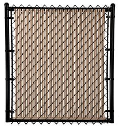 Beige Ridged Slats™ for Chain Link Fence Vinyl Privacy Fence, Privacy Fences, Privacy Landscaping, Small Backyard Landscaping, Fence Weaving, Backyard Gates, Bali Garden, Small Balcony Design, Chain Link Fence
