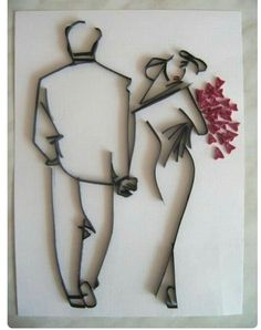 Wedding Wishes Quilled Card @ Rs. 349