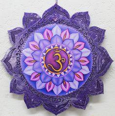 Crown chakra Sahasrara plaque 7th chakra wall plaque Purple