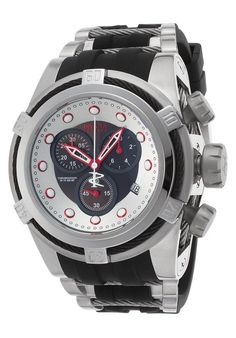 Invicta Men'S 22160 Bolt Zeus Reserve Chronograph Black And Silver Dial Watch
