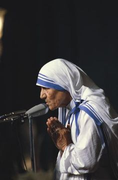 "mother teresa...""if we have no peace it is because we have forgotten we belong to each other"""