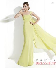 www.partydresshop.com Mermaid Yellow   San Patrick Prom  $169