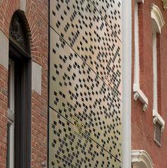 Design Hub - блог о дизайне интерьера и архитектуре: Таунхаус в Нью-Йорке с необычным фасадом