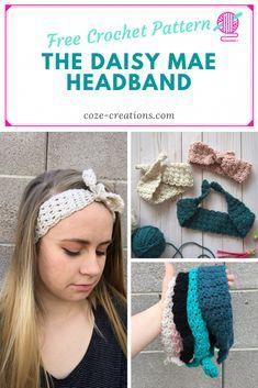 Easy Crochet Headbands, Knitted Headband, Baby Headbands, Headband Bebe, Tie Headband, Pin Up Looks, Crochet Baby, Knit Crochet, Quick Crochet Patterns