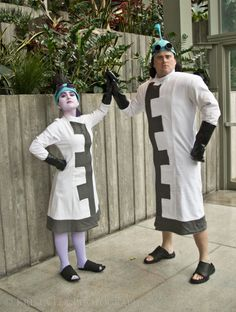 High Fives!- Yzma & Kronk Secret Lab Coats Cosplay, Emperor's New Groove, Kuzco
