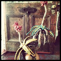 2014 Textile Sculpture, Succulents, Sculptures, Wire, Textiles, Painting, Painting Art, Succulent Plants, Paintings