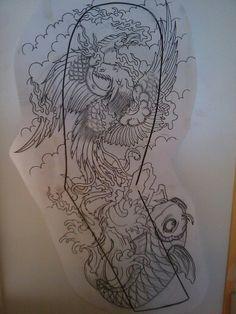 Japanese pheonix tattoo sleeve