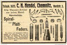 Original-Werbung/ Anzeige 1910 - SPIRAL - UND PLATTFEDERN / NENDEL - CHEMNITZ - ca. 90 x 60 mm
