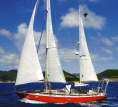"""""""Guppy"""", The Ketch rigged Jeanneau - Gin Fizz that Laura Dekker completed her circumnavigation with. She was born in 1995."""