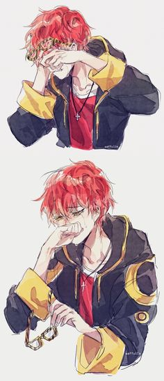 Mystic Messenger- Seven (Choi Saeyoung /Luciel)(707) #Otome #Game #Anime. Susanghan Messenger. sad tears bad end cry