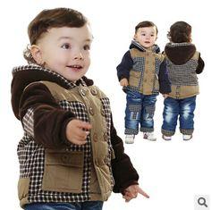 new winter thicken warm plaid kids clothes sets boys clothing sets 2pcs kids apparel winter set boy frozen clothing sets