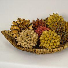 Bolas de sementes são ideais para decoração outono/inverno.