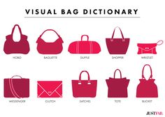 names of styles of purses | what type of handbag are you on the hunt for