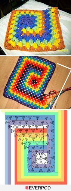 Crochet Irregular Granny Squar