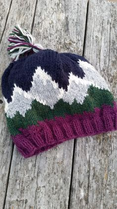 Make this beautiful hat with Lion Brand Wool-Ease! Widgi Mountaineer Hat pattern by Ann Fritz (paid pattern).