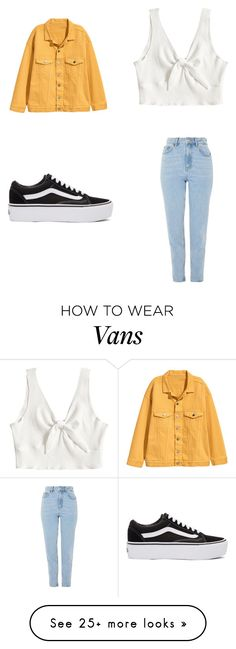 """yellow"" by evouche on Polyvore featuring Topshop and Vans"