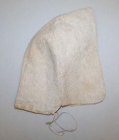 Cap  Date:     18th century Culture:     French Medium:     linen Dimensions:     Height: 7 1/4 in. (18.4 cm) Width: 6 1/2 in. (16.5 cm)