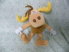 BULLWINKLE PLUSH MOOSE from Rocky & Bullwinkle Cartoon B72U4