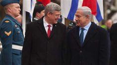 Le premier ministre canadien Stephen Harper et son homologue israélien Benyamin Netanyahou
