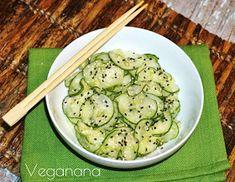 Veganana: Sunomono, Salada de Pepino Agridoce Raw Food Recipes, Asian Recipes, Appetizer Recipes, Vegetarian Recipes, Cooking Recipes, Healthy Recipes, Fermented Foods, Light Recipes, What To Cook