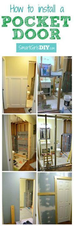 How to install a pocket door - Tutorial by Smart Girls DIY