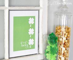 St. Patrick's Day Lucky Shamrock Free Printable. Found via TipJunkie.com