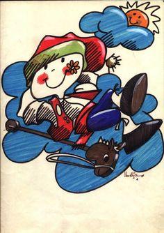 """felispino um sorriso,da série de desenhos """"acartoonados"""" ilustração de joão beja"""