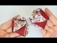 Passo a passo: Laço de fita de gorgurão/cetim* - YouTube