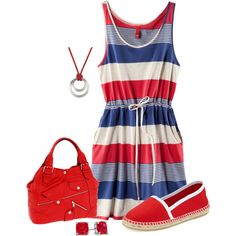 """""""casual 4th of July cookout"""" by missy-smallen on Polyvore"""