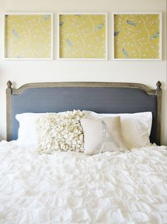 Headboard upholstered sweetness