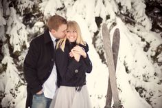 Winter engagement, Afton Alps, Skiing engagement, Winter engagement session, Emily Steffen