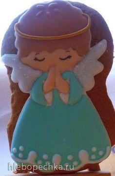Angel Cookies, Santa Cookies, Angel Cake, Christmas Sugar Cookies, Cute Cookies, Holiday Cookies, Christmas Desserts, Christmas Baking, Gingerbread Cookies