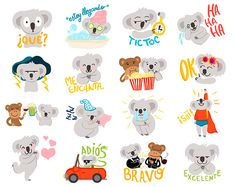 Bambú & Coco LINE Stickers on Behance