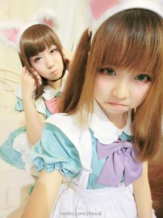 ★○•kawaii meido . . .apron . . .bow . . funny faces. . .cosplay. . .maids. . .cute asian girls•○★