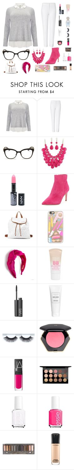 """Take Me Back To School 📓"" by kyra-rose-freeman ❤ liked on Polyvore featuring Studio 8, ESCADA, Christian Dior, NYX, Sam Edelman, Charlotte Russe, Casetify, Gina Made It, Maybelline and NARS Cosmetics"