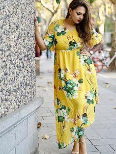 9a85d3b60e3 Floral Chiffon Maxi Dress