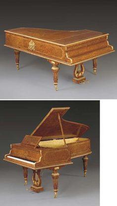 A Louis XVI style ormolu-mounted burr walnut and kingwood ba