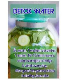 clear skin detox water. click for more smoothie/detox recipes!