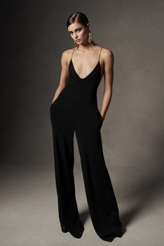 2f7b043ee18 A knit jumpsuit specially engineered with three stitch techniques to create  a structured